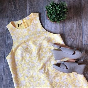 Anthropologie 4C Ravina Yellow Floral Shift Dress